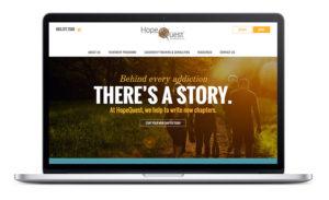 HopeQuest Website Home Page Design
