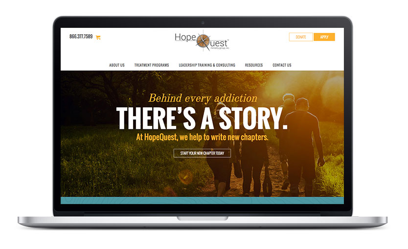 HopeQuest Website Home Page Design