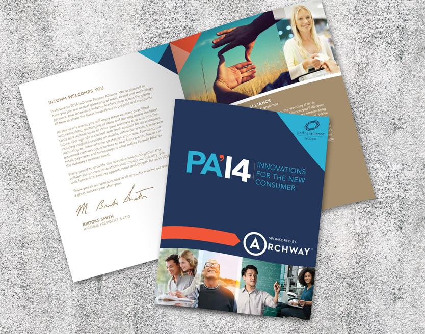 Partner Alliance 2014 Event Branding Annatto Conference Brochure
