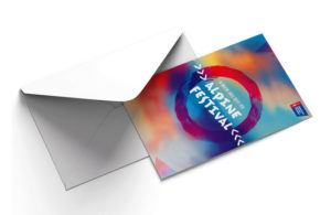 American Cancer Society event branding by Annatto Alpine Festival Invitation