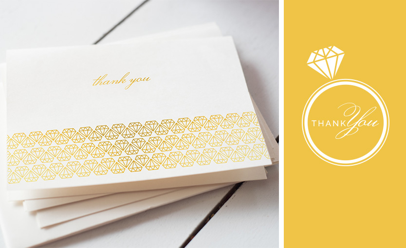 Union Diamond Thank You Stationary Annatto
