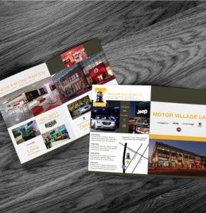 Motor Village LA Brochure Design