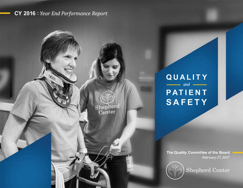 Shepherd Center Year End Quality Report Cover
