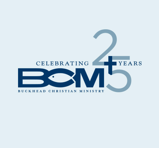 Buckhead Christian Ministry, 25th Anniversary Logo