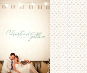 Branding for Christina Gillon Events. Logo mark and supporting graphics.