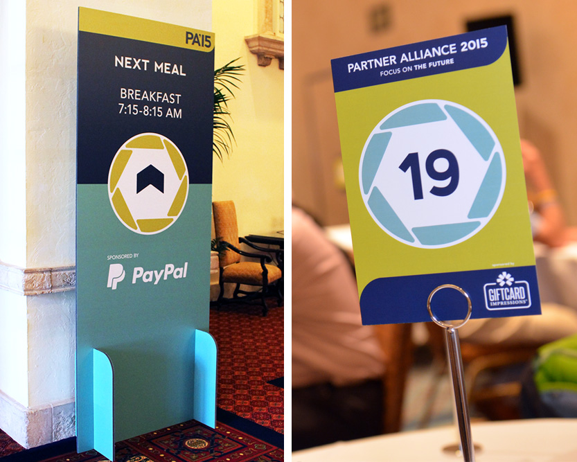 Partner Alliance 2015, Event Branding, Table Number and Wayfinding Signage by Annatto