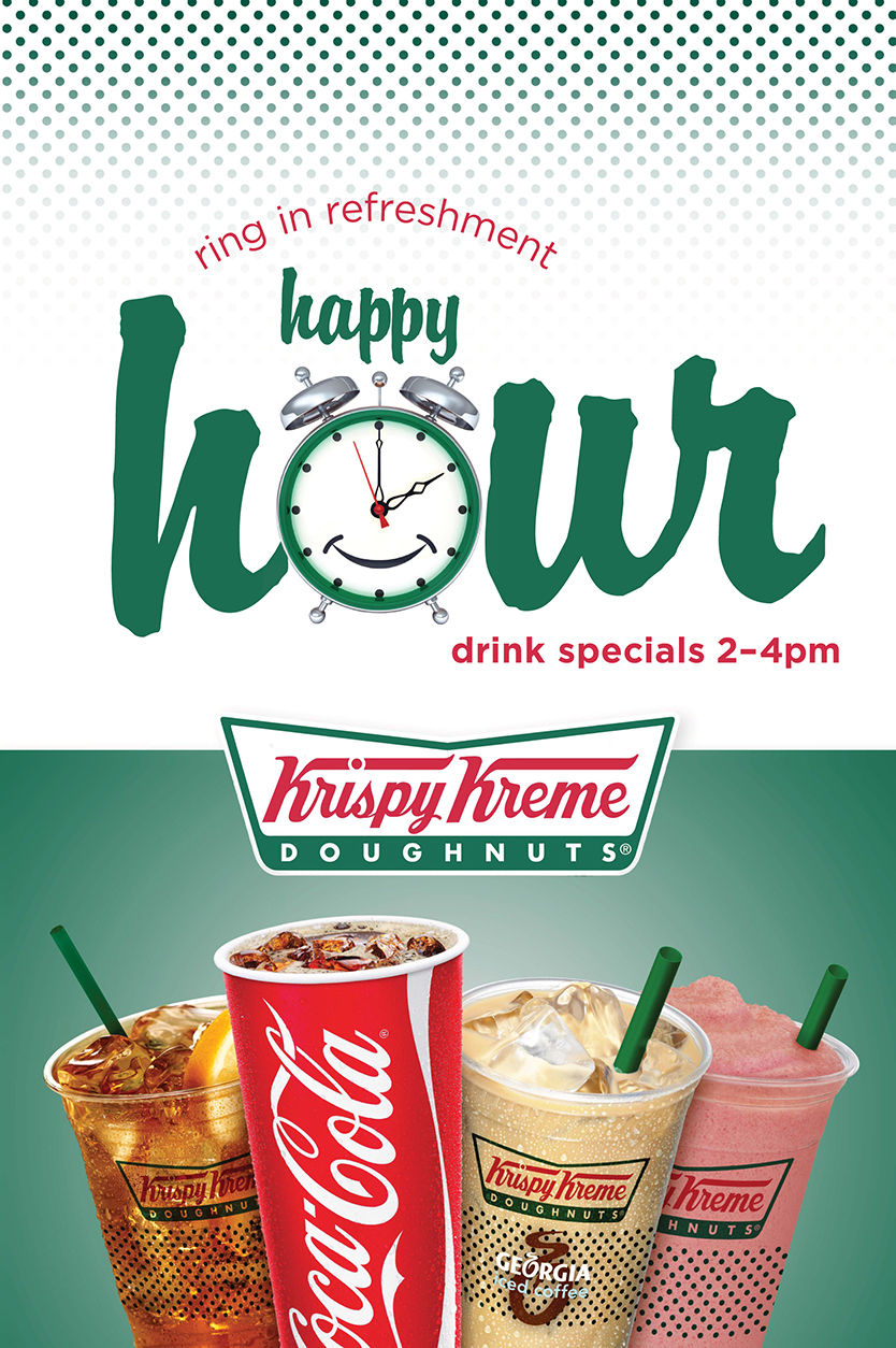 "Coca-Cola, Krispy Kreme, ""Happy Hour,"" Point of Sale Poster by Annatto"