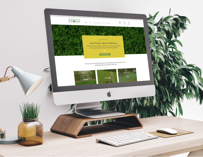 Artificial Turf Website Design