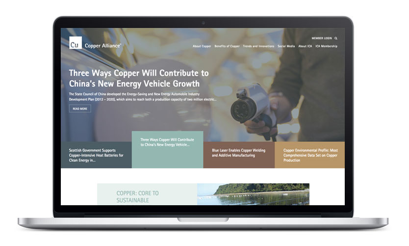 Copper Alliance Website Design