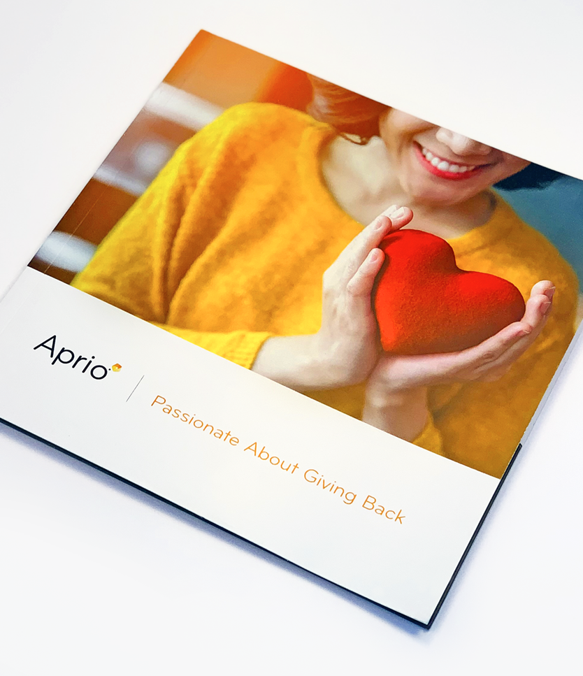 Aprio Giving Back Booklet Cover