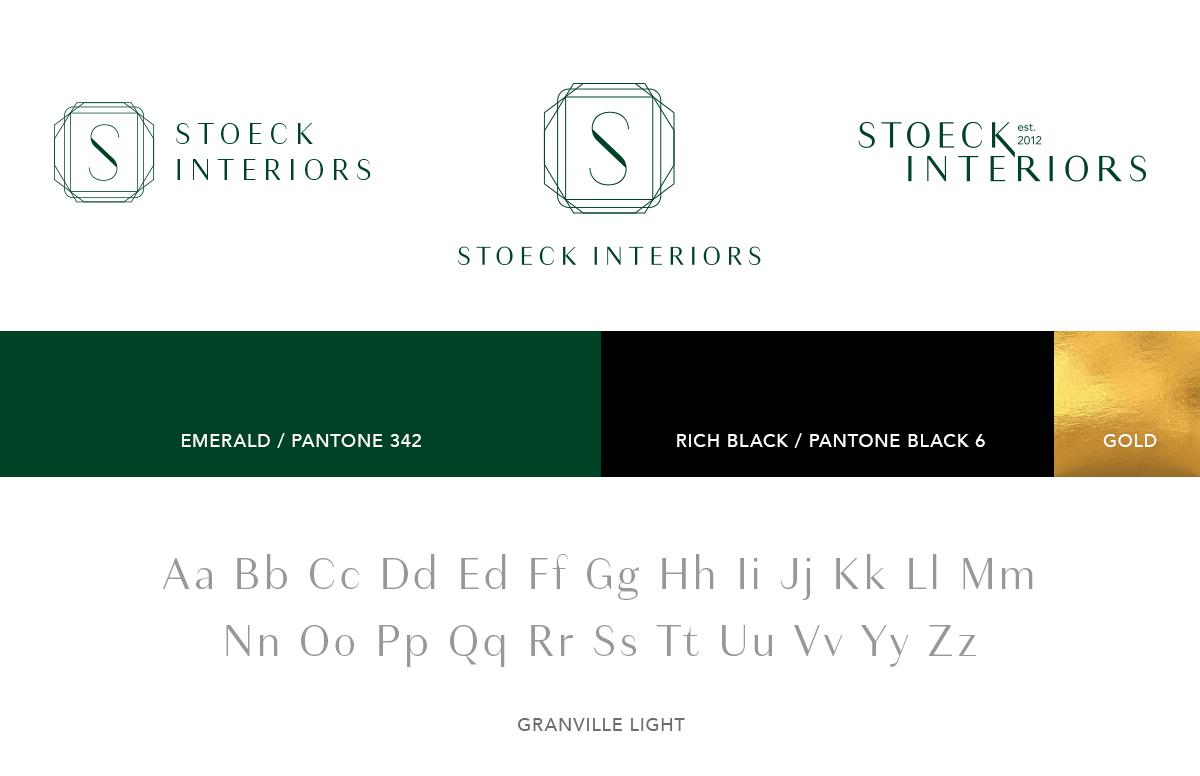 Annatto - Stoeck Interiors Brand Identity Logo Design, Brand Colors, Brand Font