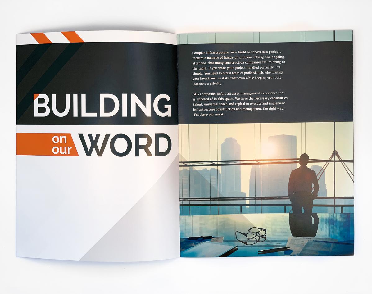 SEG Companies Booklet Design by Annatto
