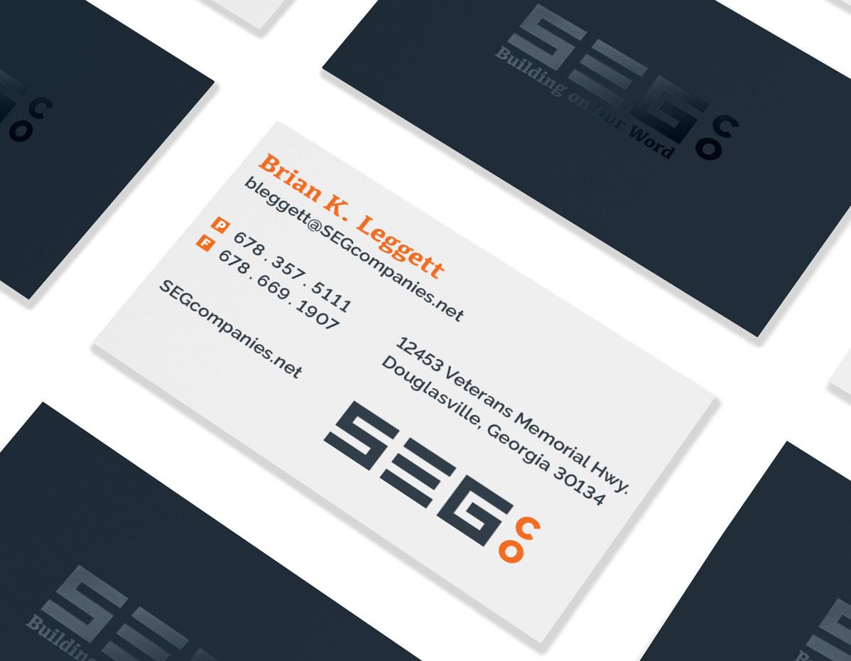 SEG Companies Business Card Design by Annatto