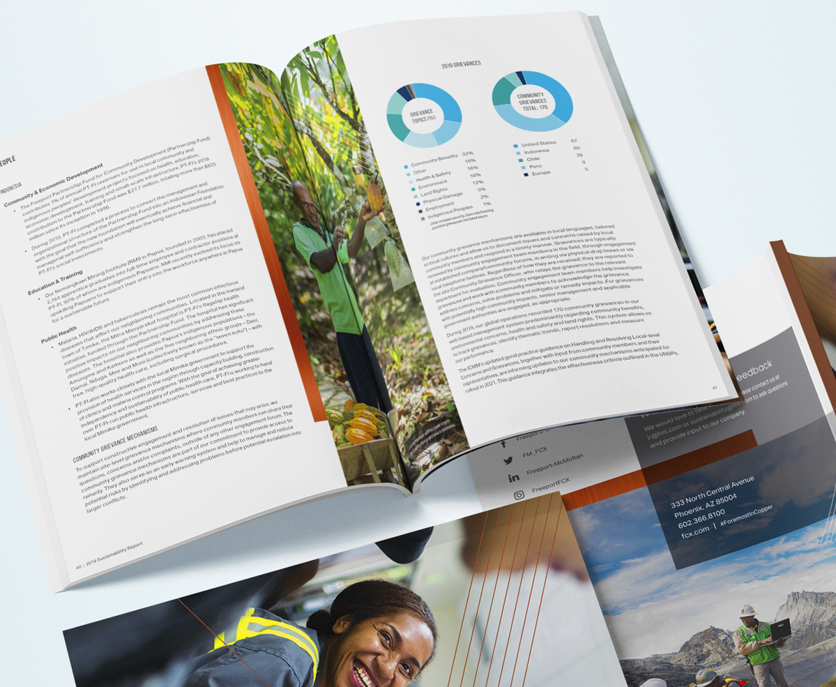 2019 Sustainability Report International Mining Company - Layout and Cover