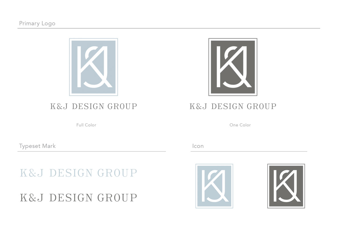 K&J Design Group Logo and Icons