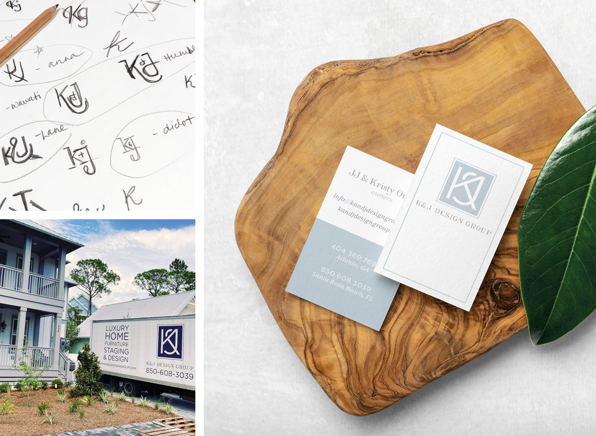 K&J Design Group Business Cards and Branding