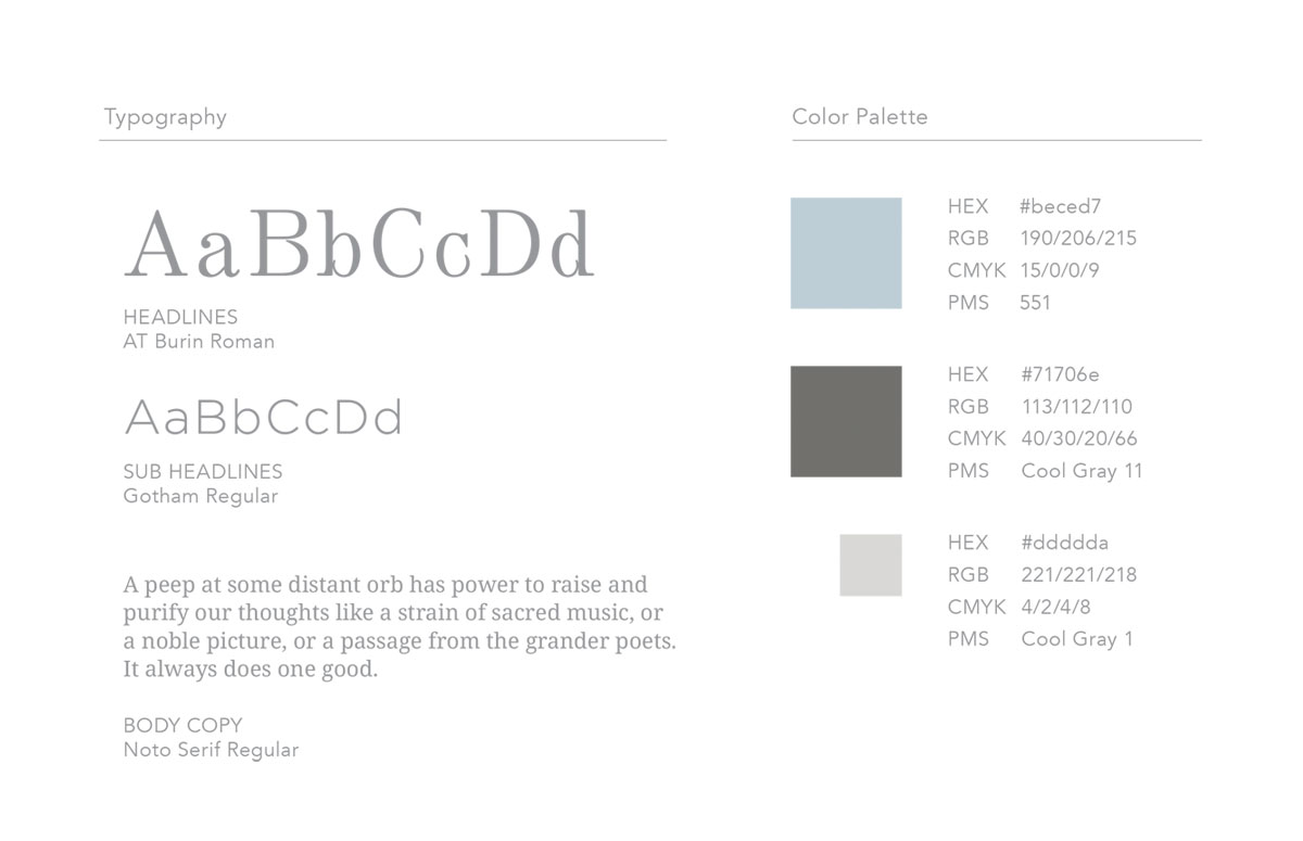 K&J Design Group Typography and Color