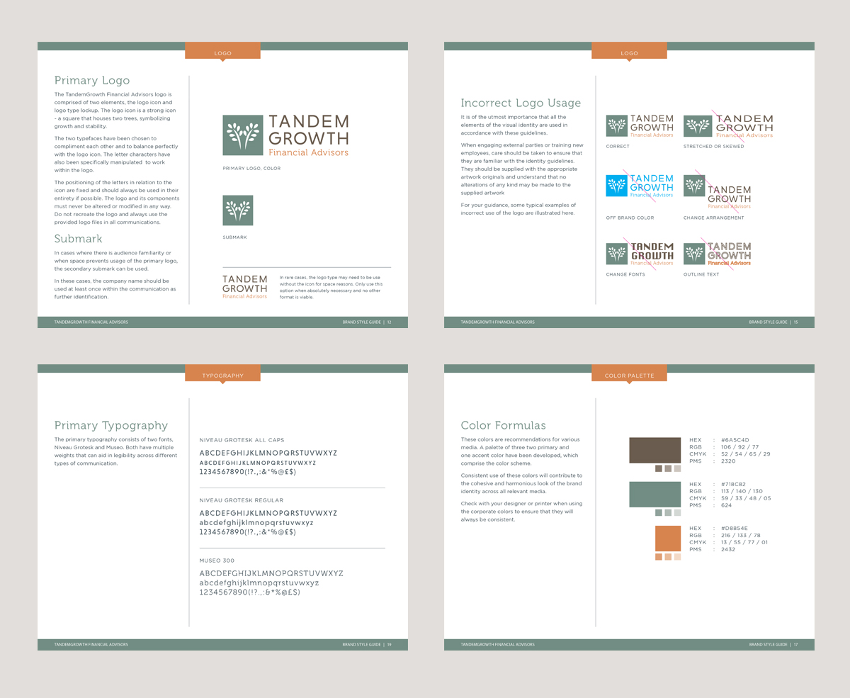 TandemGrowth Financial Advisors - Brand Guidelines - by Annatto