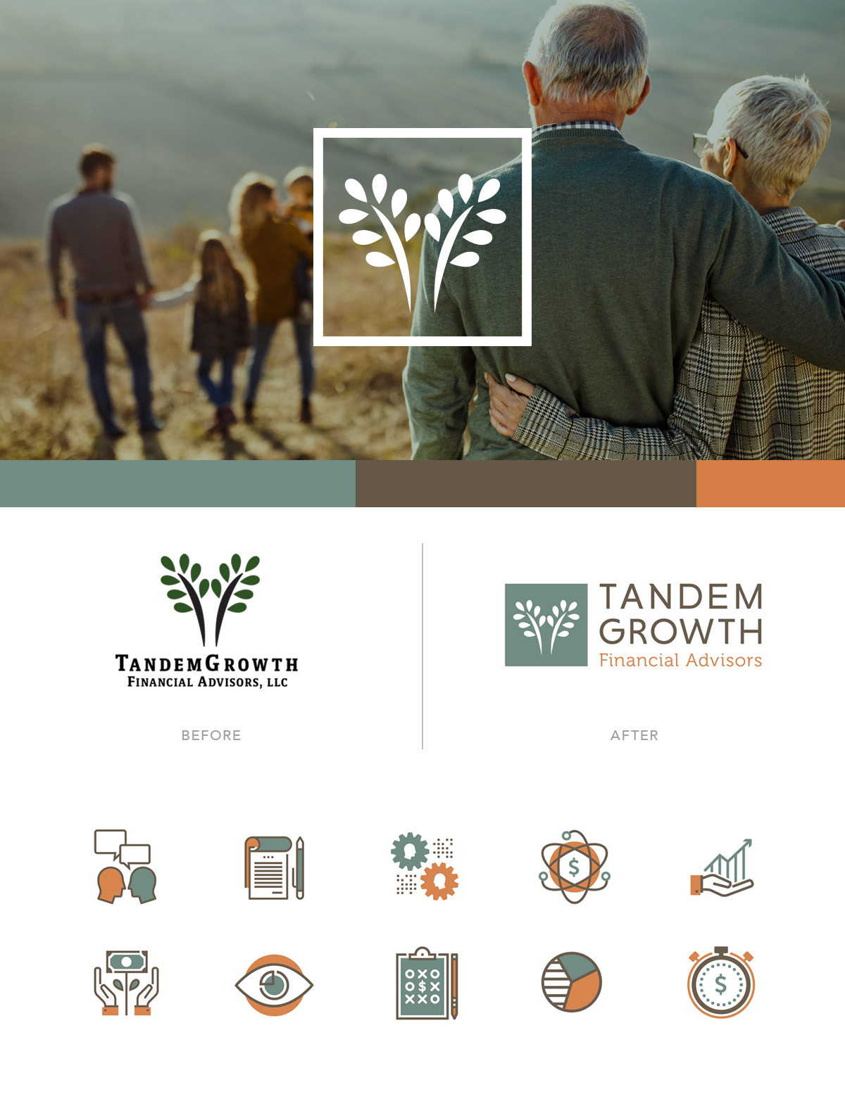 TandemGrowth Financial Advisors - Branding Refresh - Logo, Submark and Icons by Annatto